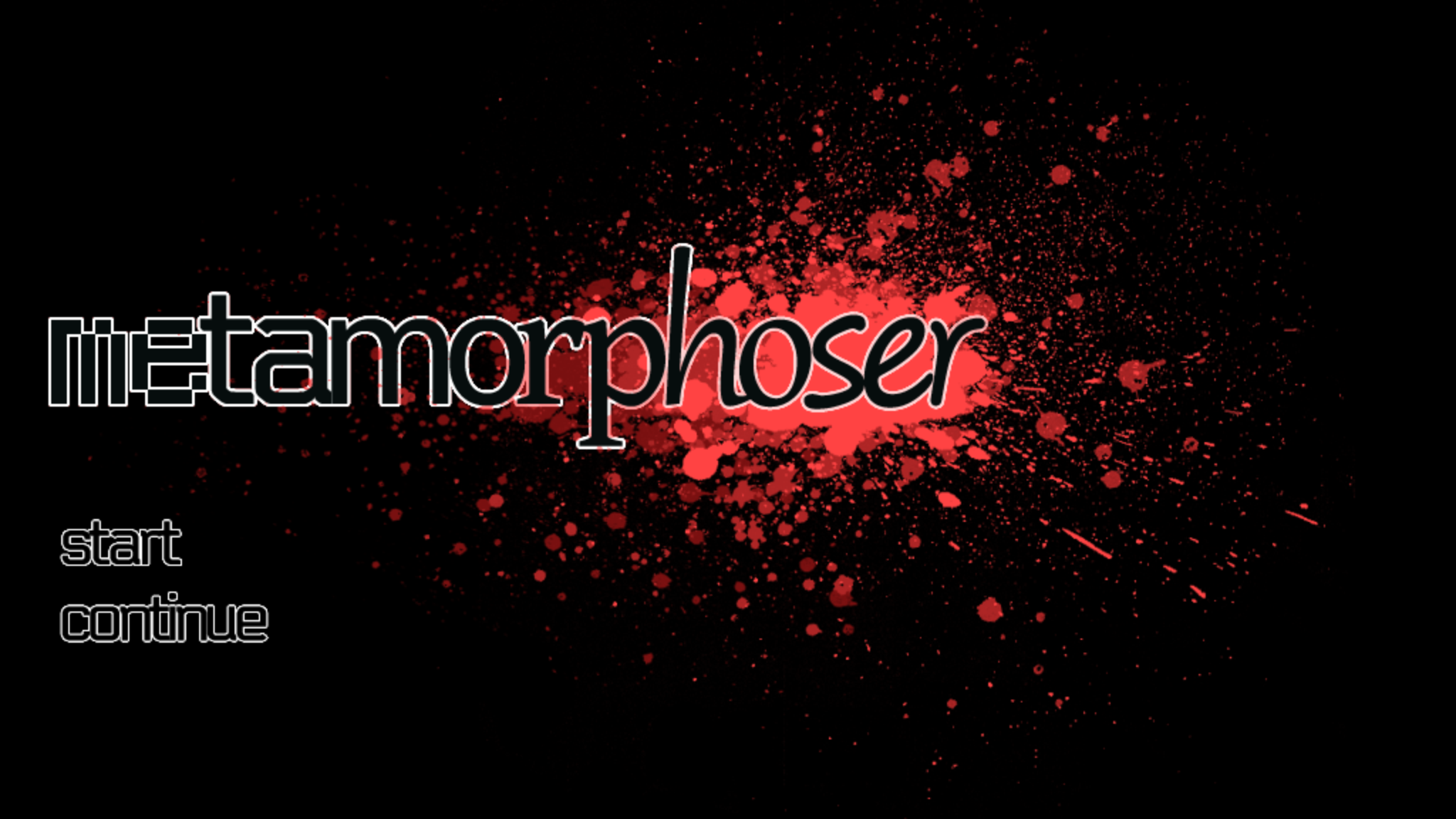 metamorphoser title screen